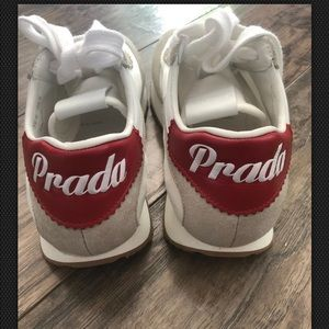 Prada Fabric and suede sneakers size 6.5
